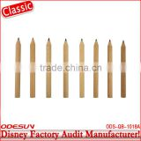 Disney factory audit manufacturer's natural wood carpenter pencil 143516