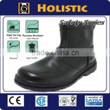 Made in Taiwan CNS Standard Black steel Full grain Leatheroil industry Safety Shoe