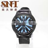 SNT-SI057 diameter 50mm 3atm water resistant men's silicon bracelet watch, black color watch, bracelet 22mm
