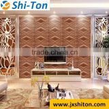 Modern faux leather 3d wallpaper decorative wall panels