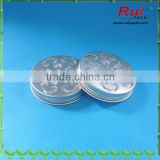 Silver spice aluminum lid with hole,natural silver aluminum air freshener cap,beautiful aluminum lid
