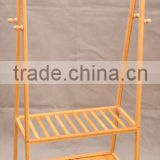 hot-selling high-quality low price display bamboo garment and luggage rack