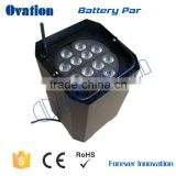 battery operation 12*17W RGBWA+UV 6in1 led par light/wireless remote control led par can