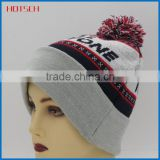 100% acrylic cheap pom-pom beanie hot sale