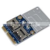 2 SSD HDD for Laptop Dual SD SDXC TF to Mini PCIe Memory Card reader mPCIe to 2 mini-sdcards mini pci-e adapter