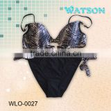 2014 ladies newest metallic bikini swimwear