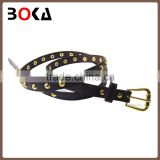 fashion beaded decorative pu belt with pin buckle for wholesale,hot selling fancy belt