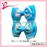 Factory wholesale cheap hair bows accessories,grosgrain bow hair clip,blue ribbon hair jewelry