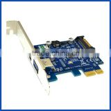 PCIE Card adapter to USB 3.1 Type A + Type C Ports 10 Gbps Max