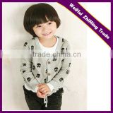 Children Printing Pattern V-neck Button Cardigan Sweater