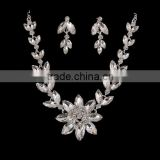 big flower diamante bridal kundan necklace earring jewelery set