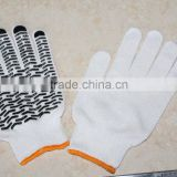 CE certification pvc dotted cotton gloves manufacture elastic cuff anti-skip working glove