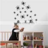 ALFOREVER Halloween Spider Wall Decals Many Spiders Vinyl Sticker Living Room Decor Baby Kids wall decor home decor Vinyl