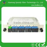 1x8 ABS BOX PLC with FC/SC/LC/ST connector optical splitter PLC for FTTH