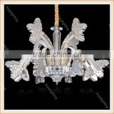 Factory direct modren Crystal Pendant light fixtures led chandelier with chrome plate for living room