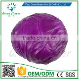 Greenflower 2016 Wholesale artificial PU Cabbage China handmaking decoration