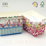 food grade cheese cake box paper rectangle shaped disposable paper container