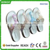 Hot sale comfortable durable women cork women indoor fashion slippers with various colors
