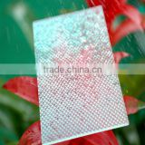 Grade A UV Protector Bronze Colored Embossed Polycarbonate Sheet,Virgin Plastic Granules