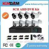 Kendom High Cost Effective 8 CH IR CCTV System Kit 960P Recording DVR AHD Bullet Cameras CMOS Sensor Indoor and Outdoor Use