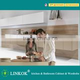 Linkok Furniture European standard high gloss new design acrylic sheets for kitchen cabinets
