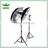 TS-ULK02 Photo Studio Silver Umbrella Flash Lighting Kit Photography Light Stand Set