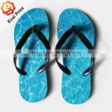 newest design breathable printed beach flip-flops with painting