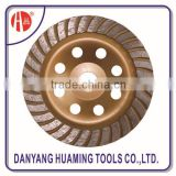 high quality power tool diamond continuous turbo cup grinding wheel for concrete and stones