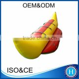 High quality pvc inflatable flying fish banana boat max 3 paddles float banana boat HLX385