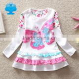 (Q902) 2-6y Neat girls frocks child wear long sleeve new winter baby dresses with butterfly