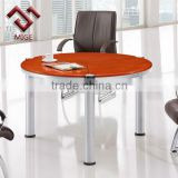 Chrome Frame Wooden Vaneer Round Conference Table