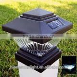 Outdoor Garden Solar LED Post Deck Cap Square Solar Fence Post Lights                                                                         Quality Choice