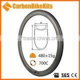 CarbonBikeKits good stability chinese carbon rims clincher 38mm for 700c road bike