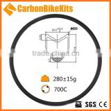 OEM Wholesale CarbonBikeKits full carbon fiber 24mm profile tubular disc road rim ready bicycle carbon NR24T