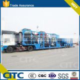 Attractive price open type tri-axle two floor vehicle carrier trailer/car carrier truck                                                                         Quality Choice