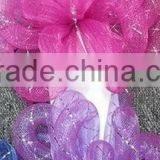 "HOT SALE! 6"" Pink/Purple Mesh Tube Bow, Mesh Rope Ribbon Bows for Birthday Decorations"