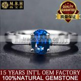 18K Gold hollow Sri Lanka Sapphire Rings colored gemstone female