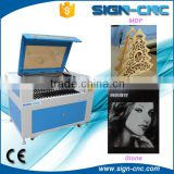 Cheap 100 W CNC laser cutting machine/ CO2 Laser Round Die Board Cutting Machine with CE approved