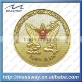 customized 3D metal fake gold star coin