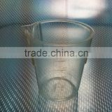 Low Form Graduated 100ml Clear Plastic TPX Beaker