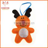 Wholesale Felt Christmas Tree Ornaments Custom Animal Reindeer Indoor Decoration Gifts With Ribbon Sling