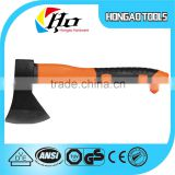 Orange color fire axe with rubber cover handle,high quality axe