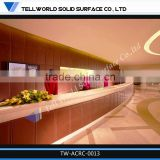 2014 commercial modern luxury long cambered salon reception desk service counter for sale