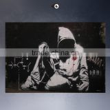 Giclee printing banksy canvas painting