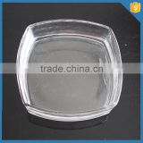 clear square glass plates
