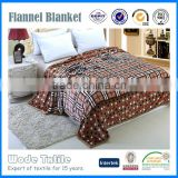 100%polyester custom Coral fleece and flannel fleece blanket