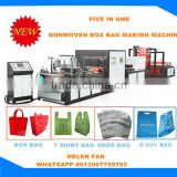 HuaBo Non woven Bag Machinery/Automatic Nonwoven Box Bag Making Machine with Auto sealing machine