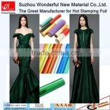 The latest beautiful lady multicolor clothes hot foil stamping