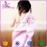 Wholesale 100% Super-absorbent Cotton Terry Cute Animal Baby Robe Hooded Baby Bathrobe Baby Towel, 0-6 years old