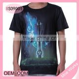 Magic Sword 3D Printed T-Shirt Sword Pattern Vibrant Design Summer T Shirt European Style